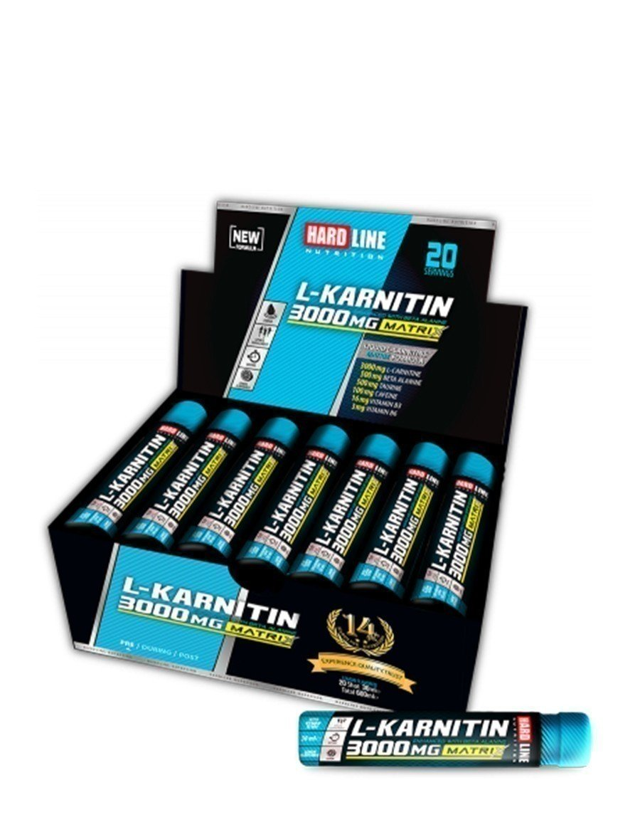 Hardline L-Karnitin Matrix  20 Ampul - 3000mg