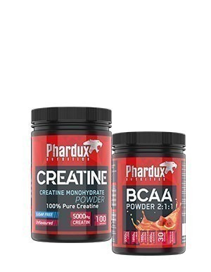 Phardux Bcaa Powder 2:1:1 - 450gr + Phardux Creatine 500gr + Shaker