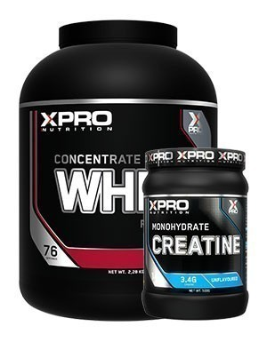 Xpro Whey Concentrate Protein Tozu 2280gr + Xpro Creatine 500gr + Shaker