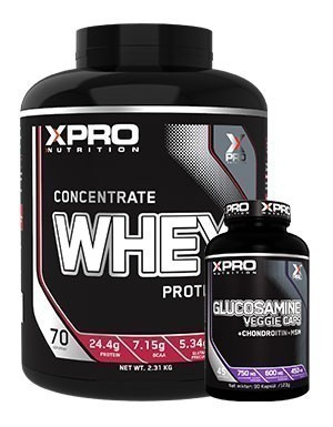 Xpro  Concentrate Whey Protein Tozu 2310gr + Xpro Glucosamine 90 Kapsül + Shaker