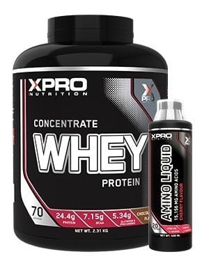 Xpro Concentrate Whey Protein Tozu 2310gr + Xpro Amino Liquid + Shaker