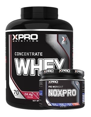 Xpro Concentrate Whey Protein Tozu 2310gr + Xpro Noxpro Pre-Workout 300gr + Shaker