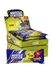 Musclestation Lime Protein Bar 12 adet - 65gr