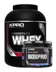 Xpro Whey Concentrate Protein Tozu 2280gr + Xpro Noxpro Pre-Workout 300gr + Shaker