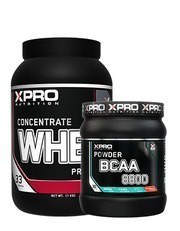 Xpro Whey Concentrate Protein Tozu 1000gr + Xpro Bcaa 8800 Powder 429gr + Shaker
