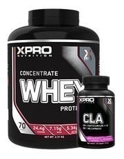 Xpro Concentrate Whey Protein Tozu 2310gr + Xpro Cla 90 Kapsül + Shaker