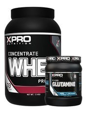 Xpro Whey Concentrate Protein Tozu 1000gr + Xpro Glutamine Powder 300gr + Shaker