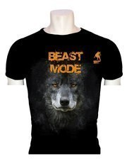 Raging Bull Beast Mode Wolf Baskılı T-Shirt