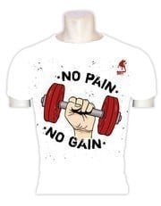 Raging Bull No Pain No Gain Beyaz T-Shirt