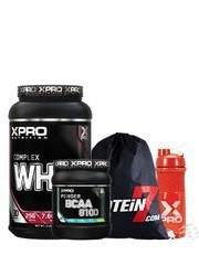 Xpro Whey Complex Protein Tozu 1000gr + Xpro Bcaa 8100 Powder 429gr + Shaker + Çanta