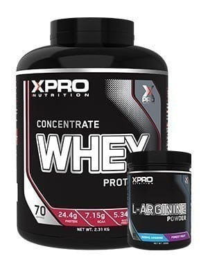 Xpro Concentrate Whey Protein Tozu 2310gr + Xpro L-Arginine Powder 300gr + Shaker