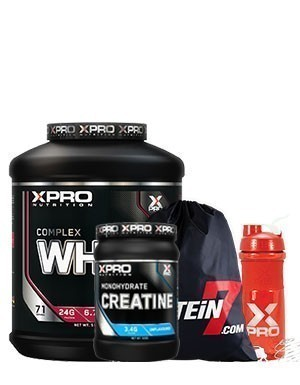 Xpro Whey Complex Protein Tozu 2280gr + Xpro Creatine 500gr + Blender Shaker + Çanta